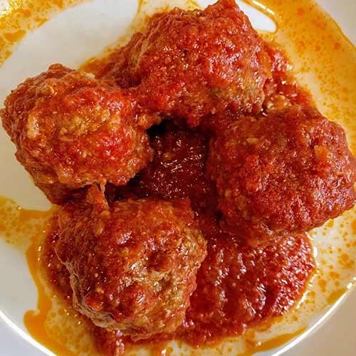 polpettone al carne, meatballs